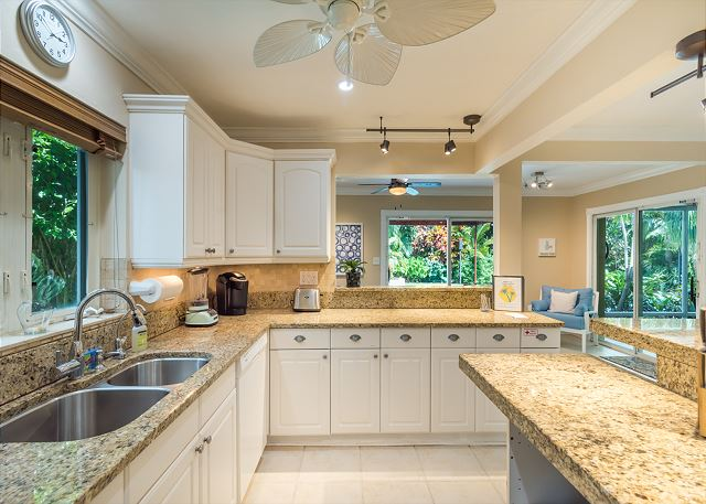 Open Kitchen with Granite Countertops!
