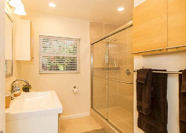 Master Bathroom with Two Headed Walk-in Shower!