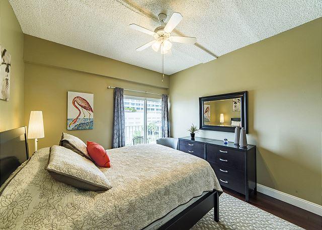 Queen Bedroom with Balcony Access!