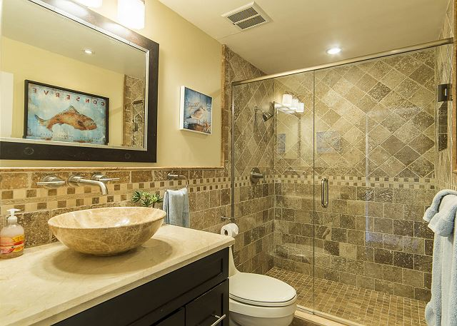 Bathroom with Walk-in Shower!