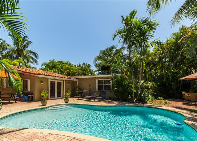 Heated, Full Sun Pool and Private Backyard!