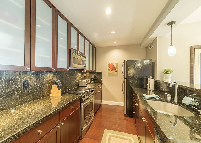 Fully Stocked Granite Kitchen with Stainless Appliances!