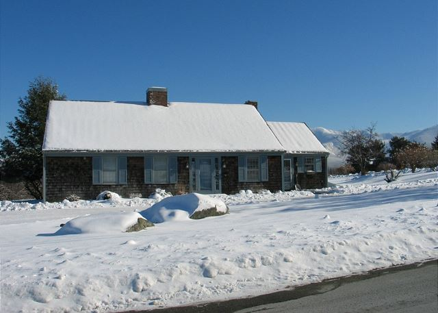 Here's the property draped in the snow New Hampshire is so famous for. Call us today to reserve your stay!