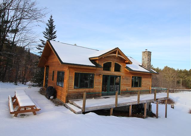 The chalet features a back deck and picnic tables to relax and enjoy the beautiful views!
