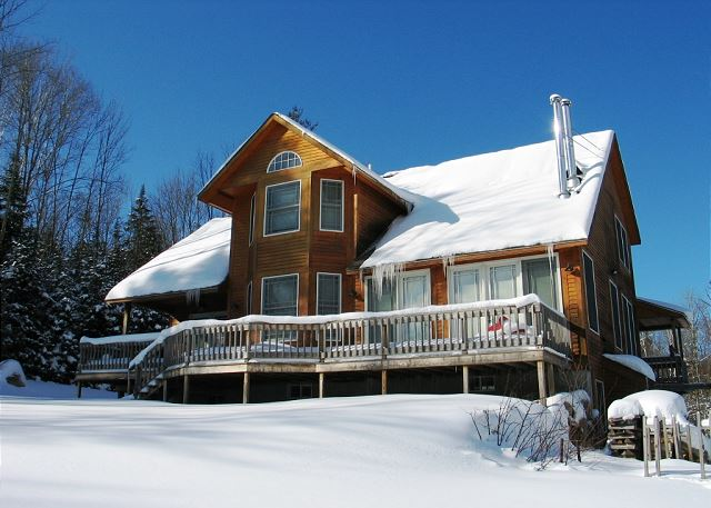 All glistening in snow and ready for your vacation retreat.