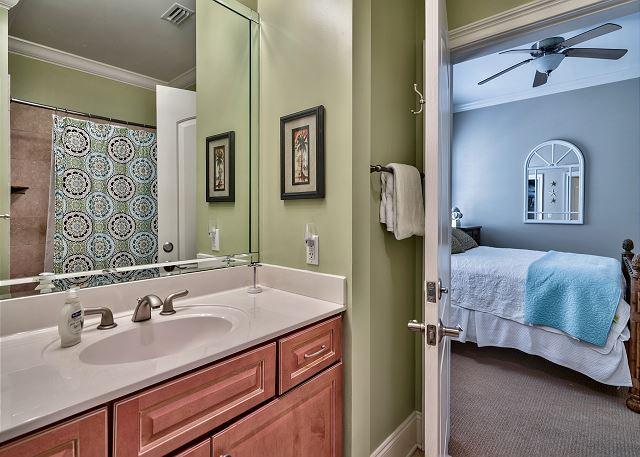 Connecting bathroom
