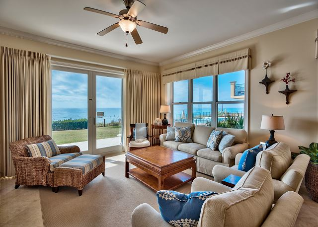 See the sunrise and sunset from the living room of Adagio A105 - a corner condo with lots of light. Upscale furnishings that you have grown accustomed to with your friend at the beach's condos!