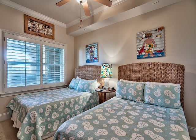 Third bedroom with two full size beds.