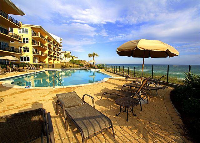 Beachside pool looking East