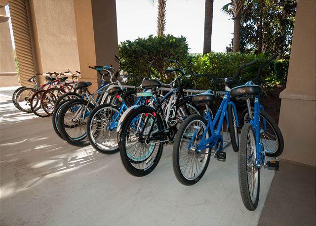 Bike Racks under portico