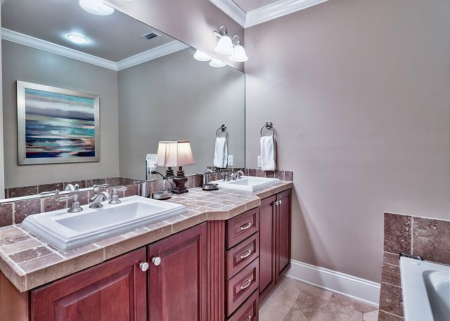 Adagio G105 Double sinks in master bathroom