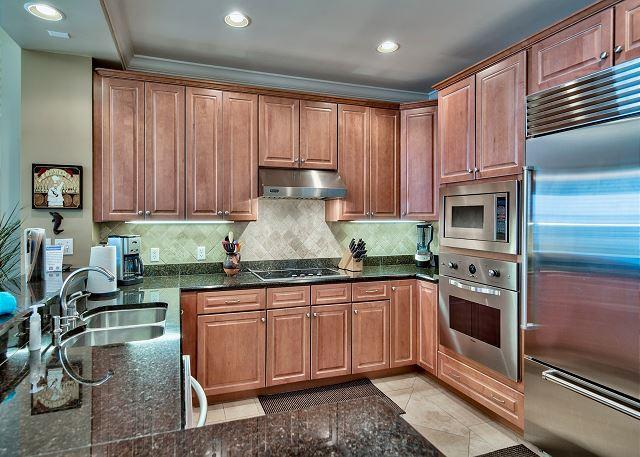 Kitchen with SubZero Refrigerator