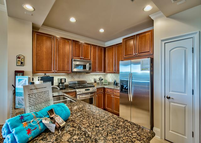 Spacious kitchen with pantry closet