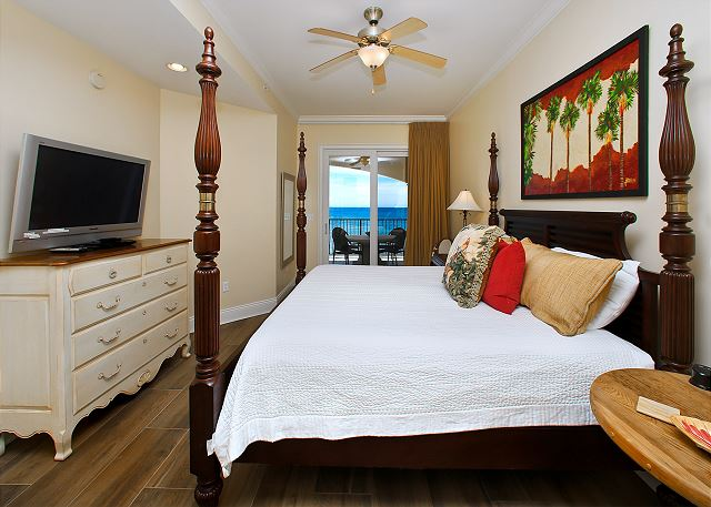 Master Bedroom with plush mattress.