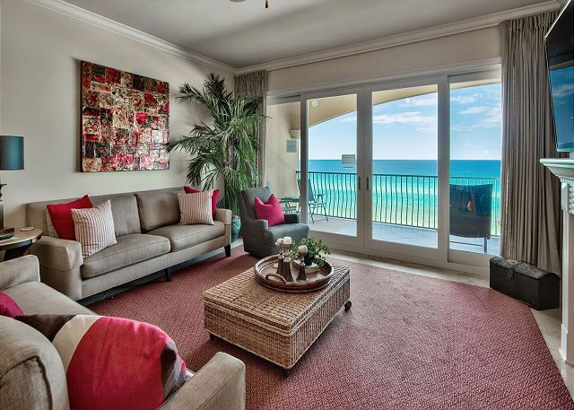 Adagio C403 Living Room with breath-taking view of the Gulf