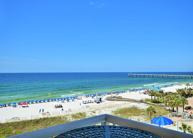 Destin West Gulfside #603: Balcony View of Beach and Pier