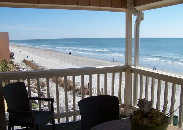 beach house 317 balcony - Garden City Beach
