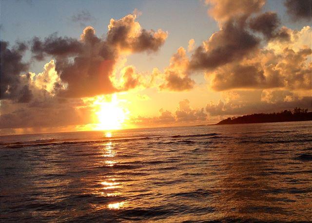 Sunrise at Anahola Bay