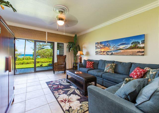 Living Room with Ocean Views & Queen Sofa Sleeper