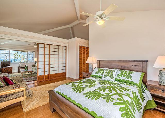 Master bedroom on upper level.