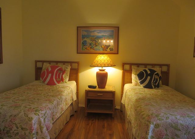 Twin beds can be converted to a king upon request at the time of booking.