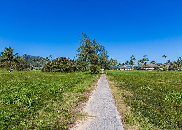 Plantation hale Beach Path