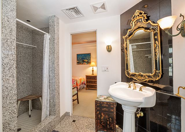 Second bath accessible from 2nd bedroom and dining area