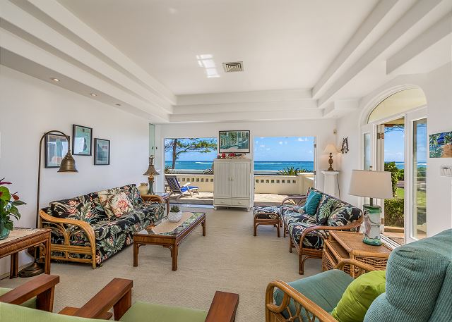 Living Area with Beautiful Ocean Views
