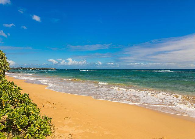 Wailua Beach fronting Kaha Lani Resort