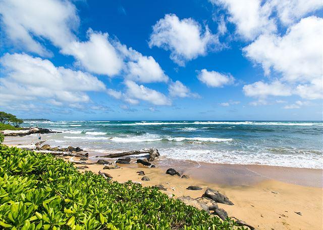 Beach in front of Kaha Lani Resort