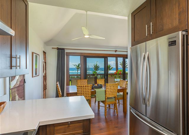 Oceanfront Views from the Kitchen