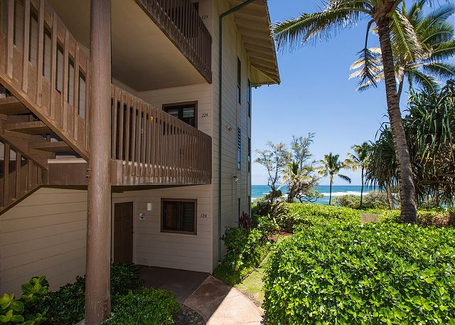 Easy access from the parking lot to your 2nd floor Oceanfront un