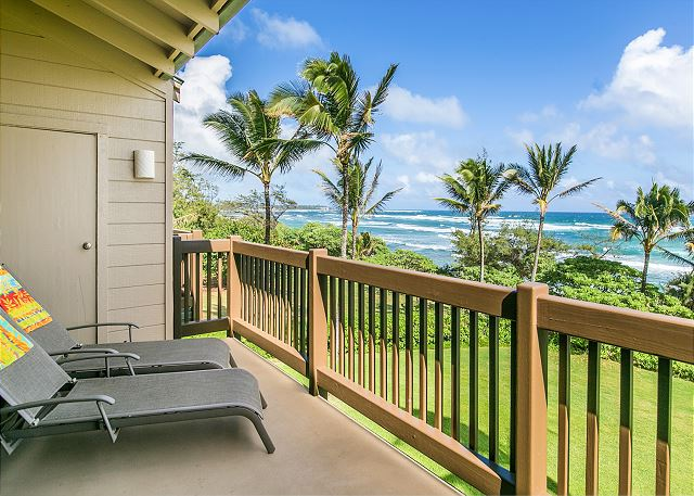 Lounge on your Private Oceanfront Lanai
