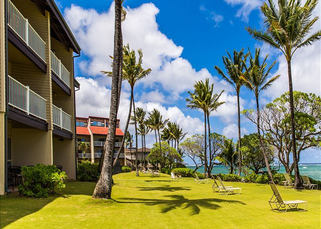 Lovely manicured grounds at your Kapa'a condo.