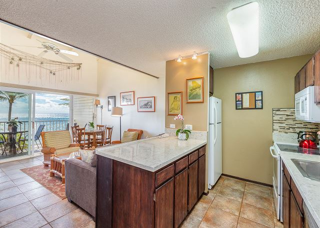 Enjoy cooking while enjoying oceanfront views