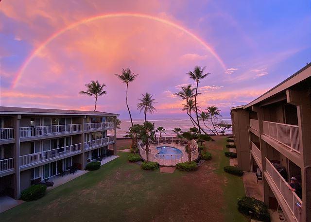 Amazing Rainbow shot taken from Private Lanai