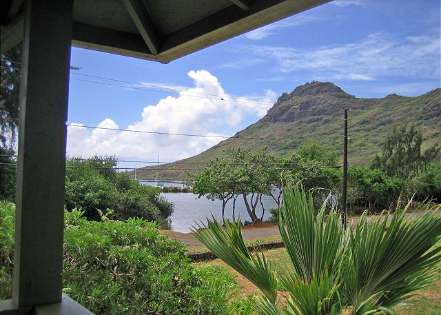 View from lanai of Nawiliwili Bay