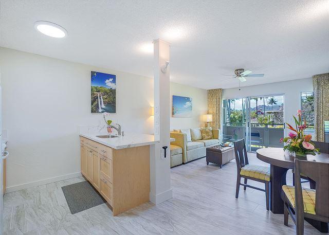 Open Floor Plan Kitchen and Living Area