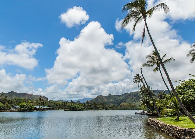 Wailua River, 1.5 miles South of the property