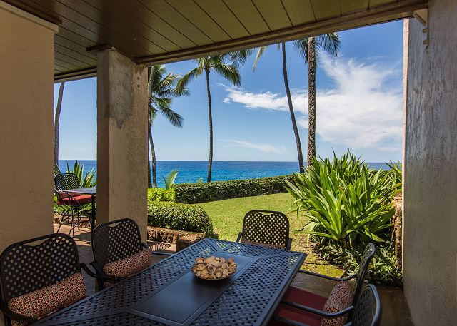 Dine with spectacular views of the glistening pacific ocean and sunsets over Poipu.