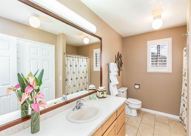 Master Bathroom with Shower Tub