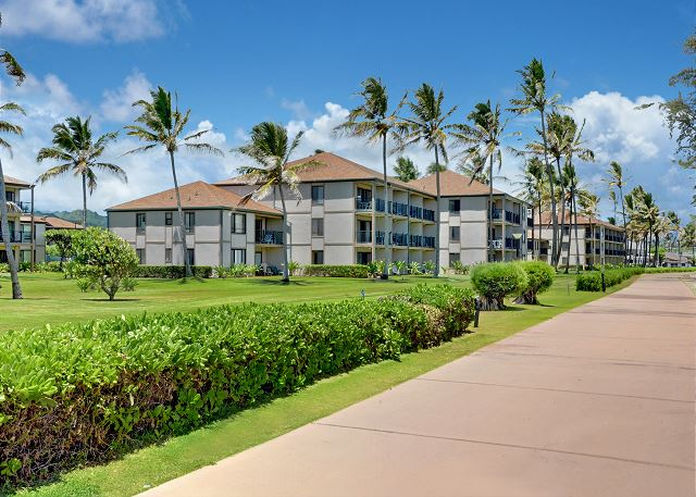Coastal Path fronting Resort
