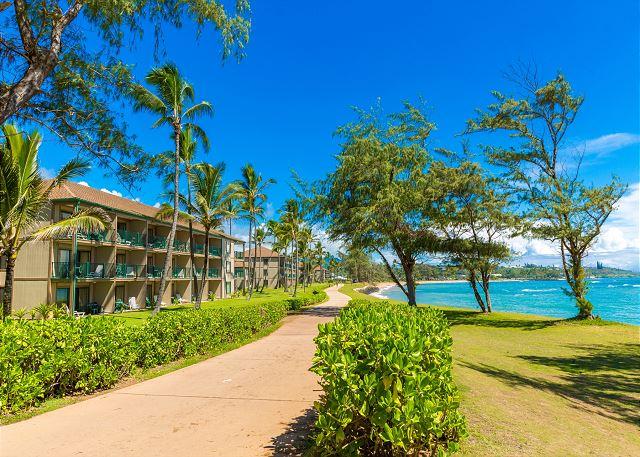 Oceanfront Resort on Coastal Bike Path
