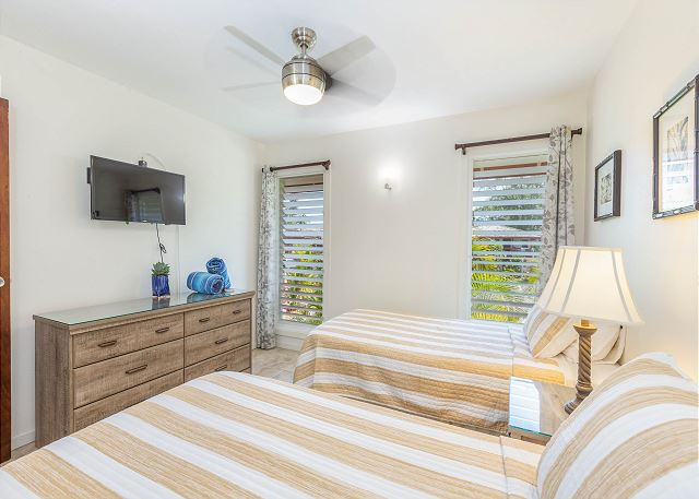 2nd Bedroom with two twin.  Conversion to king for fee available