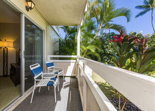 Ground floor unit with pool access.  Living room Lanai.