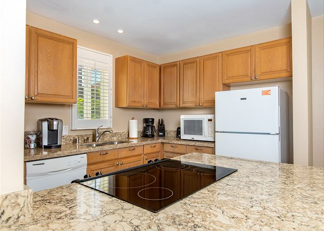 Newly Remodeled Kitchen and Living Area, Ocean Views