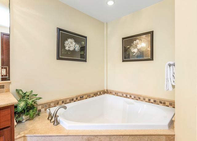 Spa tub in master and 2nd bathroom