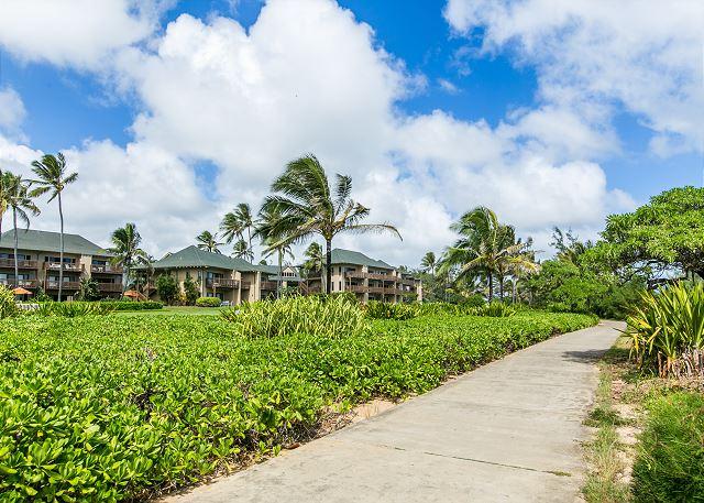 Walking Path at Kaha Lani Resort