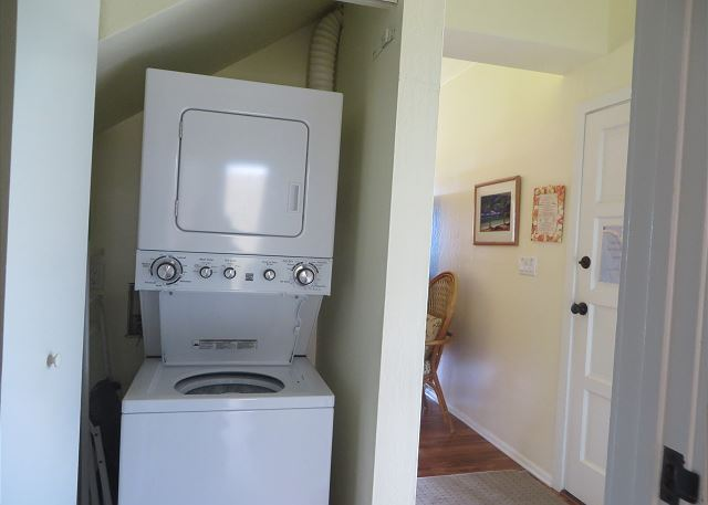 Stacked washer/dryer.