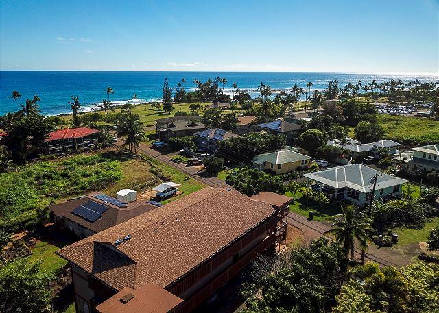 Aerial View or Condo, Walking distance to Poipu Beach